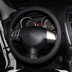 Black Soft Silicon Skidproof Odorless Universal Car Auto Steering Wheel Cover US
