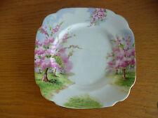 "Royal Albert Blossom Time  Landscape  Pink Green 1 Dessert/Pie  Plate   7"""