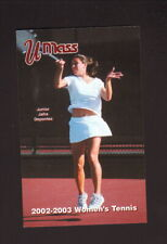 Massachusetts Minutemen--2002-03 Tennis Pocket Schedule--Big Y