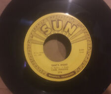 """Carl Perkins - Thats Right/ Forever Yours 7"""" Vinyl Sun Records"""