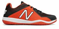 New Balance Low-Cut 4040V4 Turf Baseball Cleat Mens Shoes Orange With Black