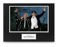 Pete Townshend Signed 16x12 Photo Display The Who Autograph Memorabilia + COA