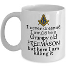 Grumpy old Freemason - Funny Masonic coffee mug - Scottish rite Freemasonry gift