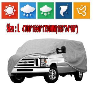 Universal Waterproof Full Auto Car Cover UV Sun Snow Dust Scratch Rain Resistant