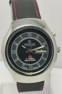 Genuine Ricoh Black Face D&D Automatic 21Jewels Japan Made Wrist Watch For Men's
