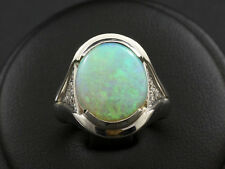 Attraktiver Opal Diamant Ring ca. 4,70ct   9,8g 750/- Weißgold