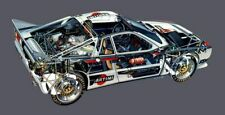 A3 Lancia Stratos 037 Rally Cut-A-way Wall Poster Art Picture Print