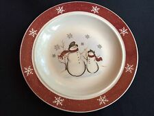 Royal Seasons Snowman Christmas Winter  Dishes Stoneware Bread & Butter Plate