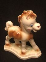 Vintage BABY PONY Remple Diamond Figurine POTTERY Ceramic Unmarked