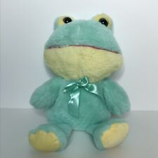 Inter-American Products Frog Plush Stuffed Animal with Bow Big Head Glitter Eyes
