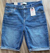 Levis 511 Slim Fit Medium Wash Denim Cut Off Shorts Tag Size 20 REG W 30