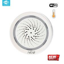 Sirena de alarma inalámbrica Wifi Smart Sensor Humedad Sirena vagoneta con la temperatura
