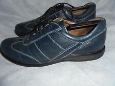 SAN MARINA Hommes Bleu Cuir à Lacets Casual Détaillé Chaussures Taille UK 10 EU 44 très bon état