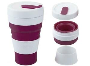 Summit Grande Pop Cup 450ml Collapsible Coffee Mug Foldable - Berry