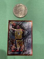 1996-97 Topps Finest Kobe Bryant #74 w/Peel RC Rookie Los Angeles Lakers GOAT