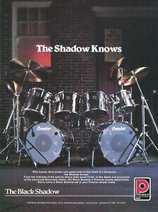 1983 Print Ad of Premier Black Shadow Drum Kit