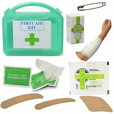 CMS TRAVEL FIRST AID KIT CAR CAMPING HANDBAG HOME HOLIDAY PLASTERS 15 PIECES