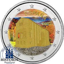 Spanien 2 Euro Münze 2017 UNESCO SERIE - Oviedo und Fürstentum Asturien in Farbe