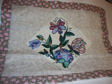 Pillow Sham Shabby Chic Cottage Style Pretty Flowers by Arch Associates