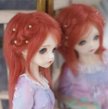 "New 3""-4""9-10cm BJD fabric fur wig Orange for AE PukiFee lati 1/12 Doll Antiskid"