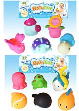 11 Bagnetto Acqua Squirters 6 x CREATURE DEL MARE & 5 x Giardino Tema Bambini