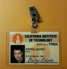 The Big Bang Theory ID Badge- Barry Kripke costume cosplay