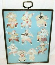 Early 20th century Scherenschnitte, Group of 10 Chinese Warriors, Paper Cutting