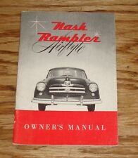 Original 1950 Nash Rambler Airflyte Owners Operators Manual 50