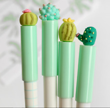 New! 5PCS-0.5mm,Black Ink  Lovely Cactus Green Plant RollerBall Pen/Gel Ink Pens