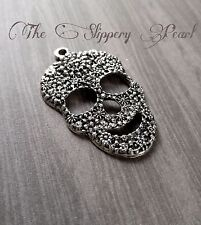 Large Skull Pendant Day of the Dead Skull Charm Calavera Sugar Skull