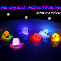 3X Rubber Yellow Squeaky Ducks Flashing LED Coloured Light Up Bath Toys Baby Fun