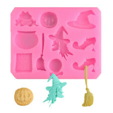 Witch Halloween Biscuit Cookie Cake Pastry Fondant Icing Mold Mould Cutter Tool