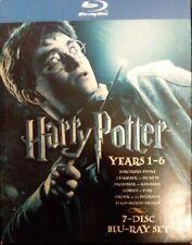 Harry Potter: Years 1 thru 6 Collection Blu-Ray (7-disc set) LikeNew free shpg