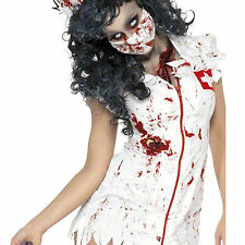 Women Zombie Ghost Nurse Dead Costume Cosplay Fancy Dress Party