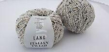 300 g Italian Tweed Lang Yarns Fb. 3 grau 50% Schurwolle 25% Seide 25% Poly.