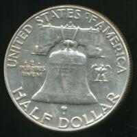 United States, 1963-D Franklin Half Dollar (Silver) - Uncirculated