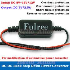 DC-DC Buck Step Down Voltage Converter 8V-15V 12V to 9V 2.5A Car Mini Regulator