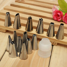 14 ICING PIPING CAKE CUPCAKE DECORATING COTTON BAG & NOZZLE SET SUGARCRAFT CUP