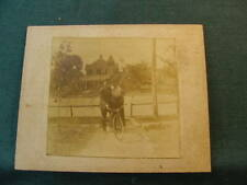 Couple & Bicycle and House Cabinet Card Photograph Orr Belfast Tenn Estate PP12