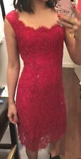 Dolce Gabbana Red Sleeveless Square Neck Dress silk slip Size 38