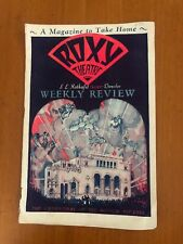 1930 Weekly Review Program Roxy Theatre