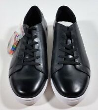 KENNETH COLE Black Leather Rainbow KAM Pride Sneakers Shoes - size 10