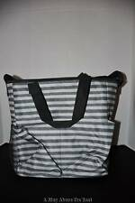Thirty One Crossbody Organizing Tote in Scribble Stripes NWT