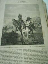 Les Anes en Orient 1856 Gravure Print Article