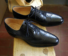 GENUINE COLE HAAN BY CHEANEY BLACK LEATHER LELAND WINGTIP BROGUE SHOES UK 9.5