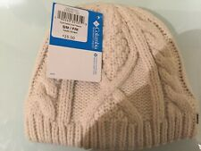 Nwt Columbia Cable Cutie Kid's Beanie Hat S/M, Chalk, Fleece interior