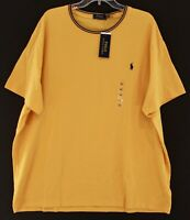 Polo Ralph Lauren Big & Tall Mens Yellow Gold Cotton Mesh Polo T-Shirt NWT 2XB