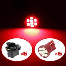 6X Red T10 PC194 8 SMD LED Speedometer Cluster Light 16mm Twist Lock