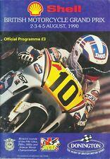 BRITISH MOTORCYCLE GRAND PRIX RACE PROGRAMME 2-5/8/90