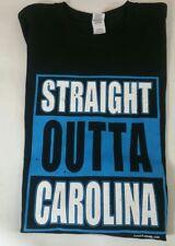 "Carolina Panthers NFL Football ""Straight Outta Carolina"" Black Team Shirt Cam"